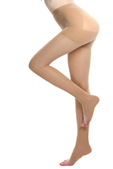 Medical Compression Pantyhose-open-toe